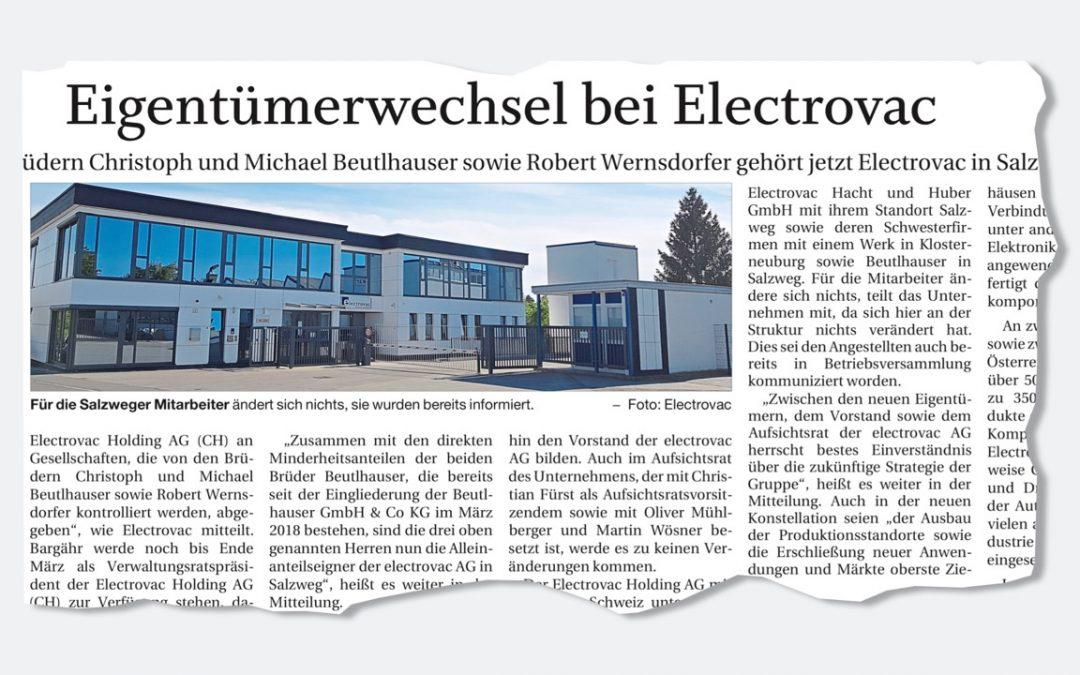 Eigentümerwechsel bei Electrovac