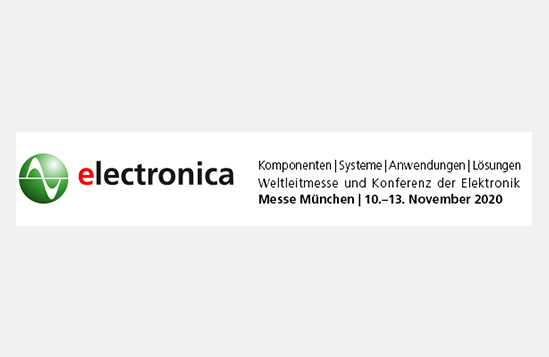 Visit us at Electronica 2020