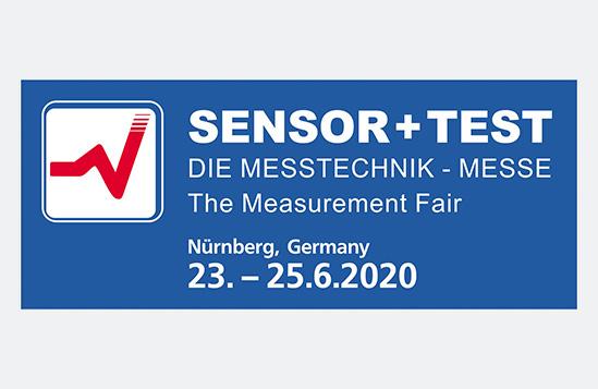 Besuchen Sie uns auf der Sensor + Test 2020 in Nürnberg