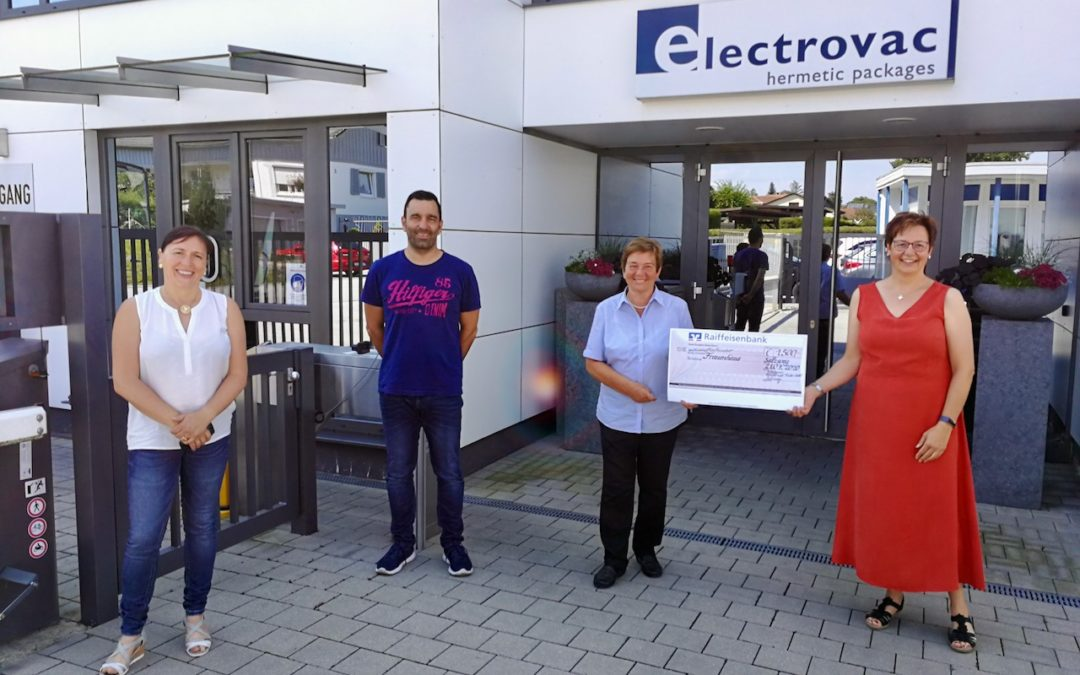Electrovac spendet 1.500 EUR an das Frauenhaus Passau