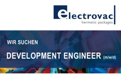 Mitarbeiter (m/w/d) als Development Engineer mit Schwerpunkt Prozessentwicklung in der Glas- /Metallindustrie gesucht